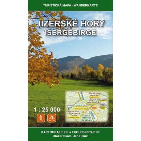 Wanderkarte Isergebirge / Jizerske Hory